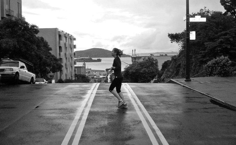 running San Francisco hills
